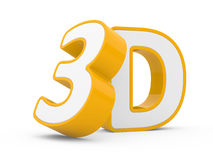 Orange 3d sign Stock Photography