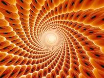 Orange 3d tunnel stock images