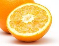 Orange 4. Close-up view of half of orange stock photos
