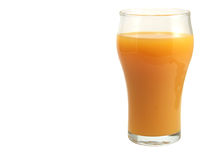 Orange. S and glass of  juice on a white background Stock Image