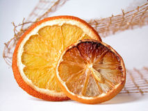 Orange. Composition of dry orange slices Royalty Free Stock Photography