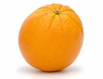 Orange. Ripe orange on white background. Clipping path incl Royalty Free Stock Photos