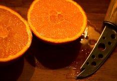 Orange. Sliced orange Royalty Free Stock Photography