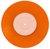 Orange 7 inch Vinyl Single Stock Photos