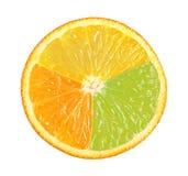 Orange. Ripe orange on a white background Royalty Free Stock Photos