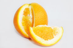 Orange. On a white background Royalty Free Stock Photography