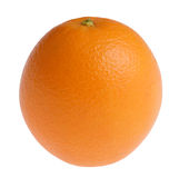 Orange. Single orange isolated against white background. Please check out all my other food and drink images as well Royalty Free Stock Photos