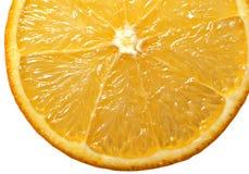 Orange. Close up of a slice of orange Royalty Free Stock Photos
