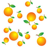 Orange. Seamless texture oranges with leaves. Vector illustration vector illustration