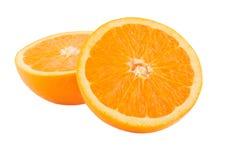 Orange. An orange isolated on a white background Royalty Free Stock Images
