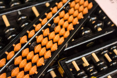 The orange abacus in thailand. Stock Photos