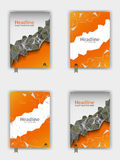 Orange Abdeckungsdesignsatz EPS10 Vektor Lizenzfreies Stockbild