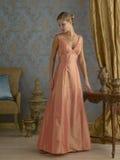 Orange Abend-Kleid Lizenzfreie Stockbilder