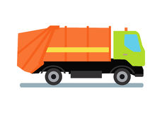 Orange Abfall-LKW lizenzfreie abbildung