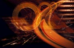 Orange abstract royalty free stock photo