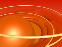 Orange abstract. Abstract orange background with sphere Royalty Free Stock Images
