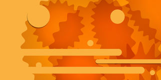 Orange abstract backdrop. Decorative vector design. Modern graph Stock Photo