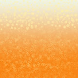 Orange abstract background. Orange yellow abstract background with stylized flowers and yellow drops vector illustration