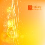 Orange abstract background. Vector illustration, contains transparencies, gradients and effects Stock Illustration