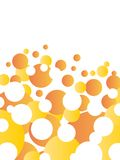 Orange abstract background. Vector illustration Stock Image