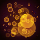 Orange abstract background with bokeh lights. Royalty Free Stock Photography