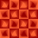 Orange abstract background, checker patterns with blending triangle texture. Vector EPS 10 Stock Photos