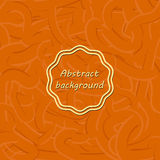 Orange abstract background with different lines. Like gum or pas Royalty Free Stock Image