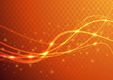 Orange abstract background - energy flare Royalty Free Stock Photography