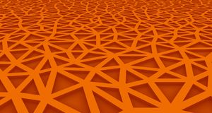 Orange Abstract background formed by triangles with interior lighting. 3d illustration Stock Illustration