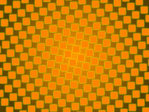 Orange abstract background, gold squares Royalty Free Stock Photos
