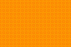 Orange abstract background and squares. Symmetrical orange squares, tile, abstract background Stock Photos