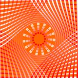 Orange abstract background tile with overlapping gradient curve elements and star shape in middle, decorative tile Royalty Free Stock Photos