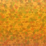 Orange abstract background triangles Stock Photography