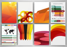 Orange abstract backgrounds and concept vector icons Royalty Free Stock Photo