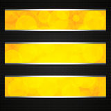 Orange abstract banners Stock Photos
