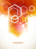 Orange abstract blurred hexagon background Royalty Free Stock Photography