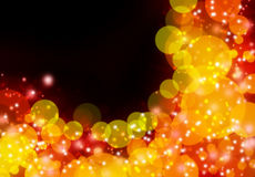 Orange abstract bokeh background Stock Photography