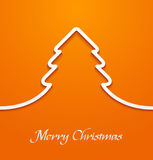 Orange abstract christmas tree applique Royalty Free Stock Photography