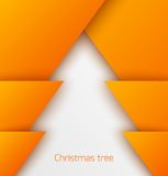 Orange abstract christmas tree paper applique Royalty Free Stock Photography