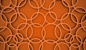 Orange abstract circle background Stock Photo