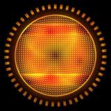 Orange abstract circle Stock Photography