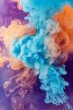 Orange abstract color splash background stock photo