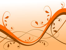 Orange Abstract Floral Background Stock Images