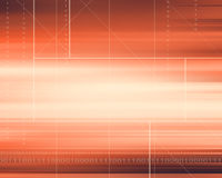 Orange  Abstract Futuristic Background Stock Photo