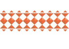 Orange Abstract geomatic on white background, Convex Rectangles ,3D geometric pattern. Royalty Free Stock Photography