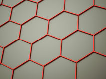 Orange abstract hexagonal cell background Royalty Free Stock Photos