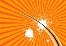 Orange abstract layout Stock Photo