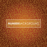 Orange abstract number background Royalty Free Stock Photo