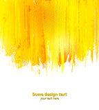 Orange abstract paint splashes illustration Royalty Free Stock Image