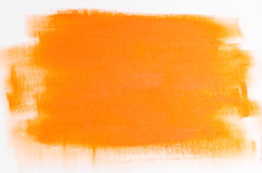 Orange abstract painted background Royalty Free Stock Photos